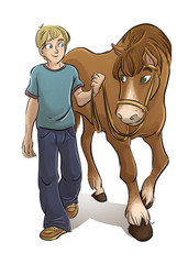 joven con caballo