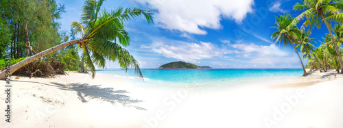 Panorama of the tropical beach in Thailand - 75961550