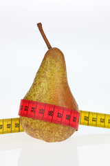 pear with measure tape