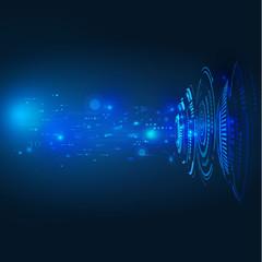 technology circuit futuristic background, vector illustration