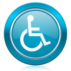 wheelchair blue icon