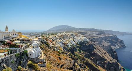View on Thira town of Santorini island