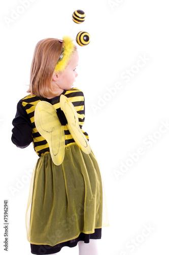 canvas print picture Kind im Bienen Kostüm - isoliert