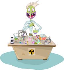 Comic chemist Illustration