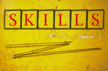 skills written on a wall