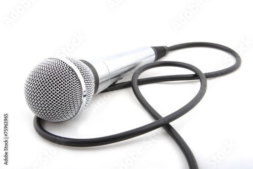 Leinwanddruck Bild Modern microphone