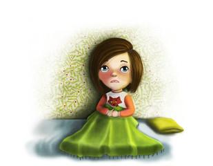 "Illustration ""Resentful girl"""