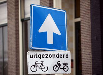 Amsterdam bike sign