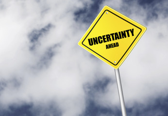 Uncertainty ahead sign