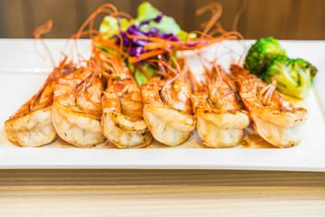 Steak shrimps
