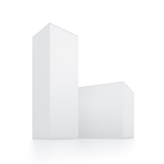 Rectangle white box illustration on isolated background