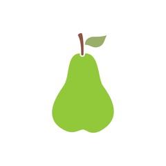 Icono pera verde