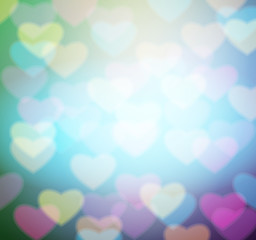 hearts blurred background