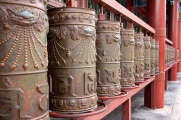 Praying wheels of Buddhist