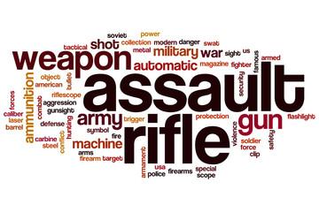 Assault rifle word cloud