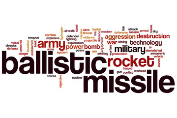Ballistic missile word cloud