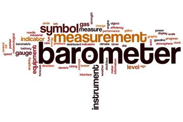 Barometer word cloud