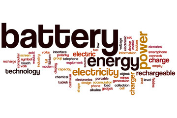 Battery word cloud