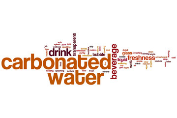 Carbonated water word cloud