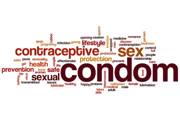 Condom word cloud