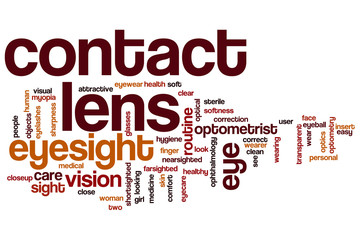 Contact lens word cloud