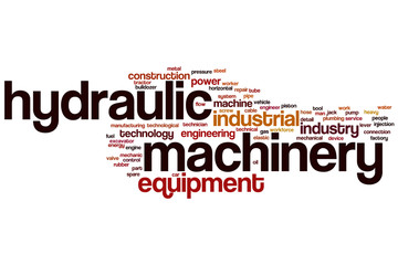 Hydraulic machinery word cloud