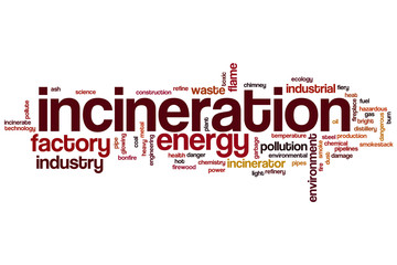 Incineration word cloud