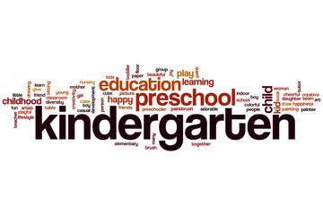 Kindergarten word cloud