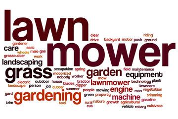 Lawnmower word cloud