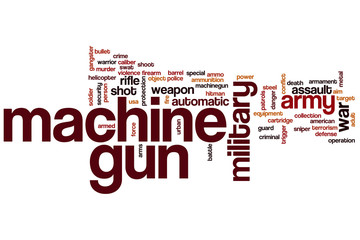 Machine gun word cloud