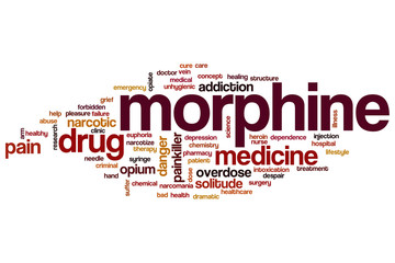 Morphine word cloud