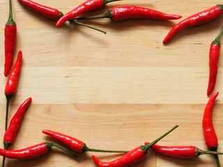 Red hot peppers background