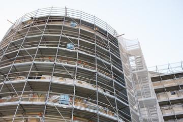 Cantiere edilizio, ponteggi di sicurezza