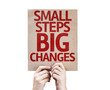 Small Steps Big Changes card isolated on white background