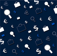 shopping icons on blue texture