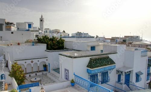 In de dag Tunesië village de sidi bou said