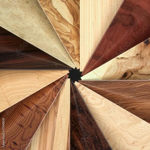 Leinwandbild Motiv Different kinds of wood