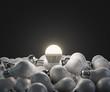 Leinwanddruck Bild - led white lightbulb