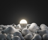 Fototapety led white lightbulb