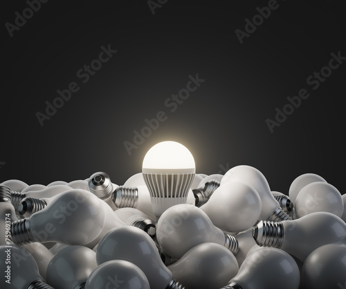 led white lightbulb - 75969374