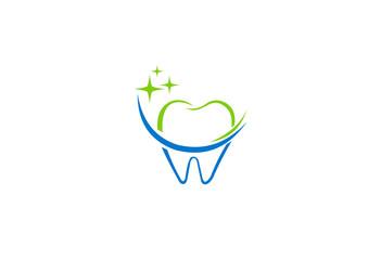 teeth dentist clean logo