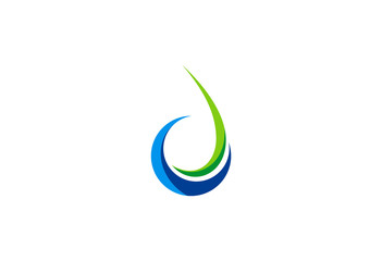 water ecology symbol abstract logo