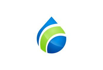 water drop symbol vector logo
