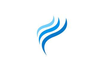 wave wind abstract vector logo