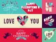 Happy Valentines Day web banner set
