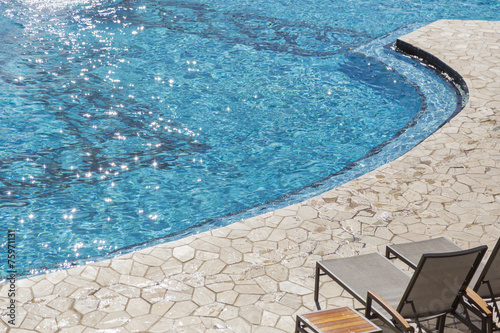 Deurstickers Ontspanning Exotic Luxury Swimming Pool Abstract