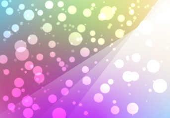 Colorful background with bokeh