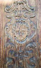 carved wooden portal