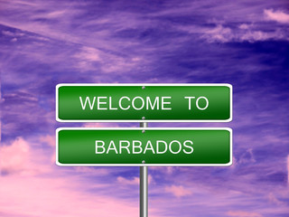 Barbados Welcome Travel Sign