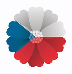 Flag flower Czech